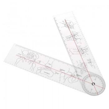 Гониометр: линейка для измерения подвижности суставов 380 мм 360°