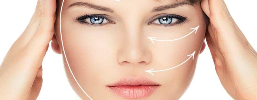 Коррекция морщин на лице с помощью кинезиологических тейпов