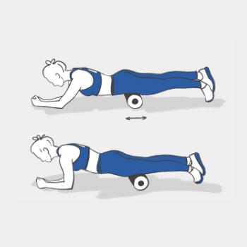 Вправи з масажним роликом